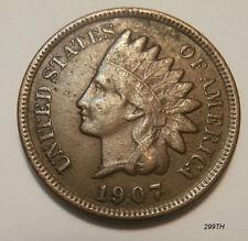 "1907 Indian Head Penny   ""Error""  #7"