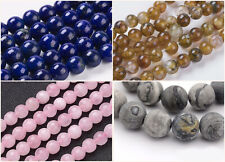 6mm Natural Stone/Netstone Beads Steinperlen ca. 30 Stück Fädelloch 1mm