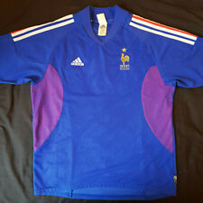France Home 2002-2004 Football Shirt Maglia (Adidas Large) great used condition