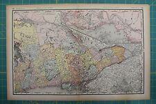 Ontario Vintage Original 1894 Rand McNally World Atlas Map Lot