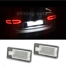 for Audi A4 Q7 RS4 A3 A6 S4 Canbus License Plate Light 18 SMD LED White car Blub