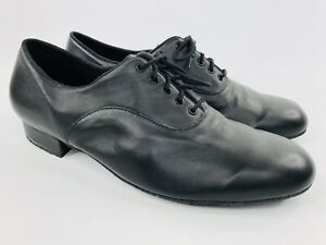 Bloch Men's Xavier SO860M Ballroom and Latin Dance Shoes Black Leather Size 12