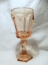 *NEW* Set of 8 Vintage Fostoria PEACH wine glass VIRGINIA pattern