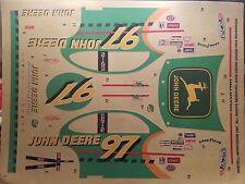 Chad Little John Deere Pontiac Grand Prix Decals 1/24 Scale Revell Monogram