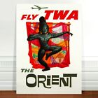 "Stunning Vintage Travel Poster Art ~ CANVAS PRINT 36x24"" ~ TWA The Orient"