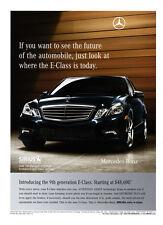 Mercedes-Benz E-Class print ad 2009 Future of the Automobile