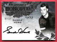 2015-16 Gordie Howe Leaf Ultimate Auto Honored Members 07/12 - Detroit Red Wings
