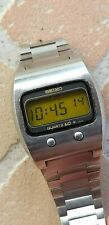 Rare SEIKO 0624-5009 Lemon Japan LCD vintage watch acier steel NR