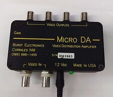 Burst microDA video distribution amplifier 2-In 4-Output