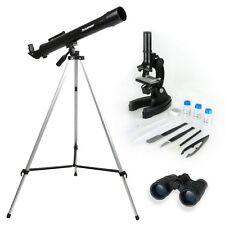 Telescopio Celestron Binocular Microscopio, Y Kit De Ciencia