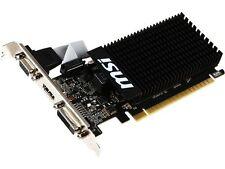 MSI GeForce GT 710 DirectX 12 GT 710 1GD3H LP 1GB 64-Bit DDR3 PCI Express 2.0 x1