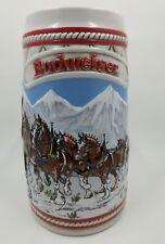 Budweiser Stein Vintage 1985 Ceramarte Brazil Handcrafted Clydesdale Rare Mug