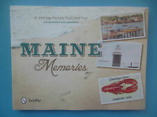 * New MAINE MEMORIES Vintage Picture Postcard Tour Book by Closen & Brunkowski