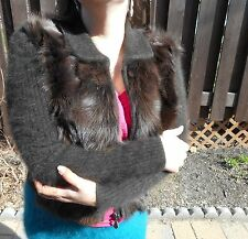 Vintage Retro 80% ANGORA and FUR Venesha Sweater Coat! Furry Fuzzy Fluffy Soft!
