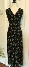 Jonathan Martin 100% Silk Chiffon Dress Size 12 NWT $100 WASHABLE SILK
