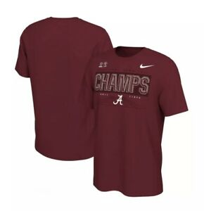 NEW Alabama Crimson Tide Nike 2021 Rose Bowl Champs Locker Room Field Shirt XL
