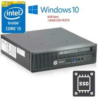 HP EliteDesk 800 USDT Intel Quad Core i5-4570S@2.9GHz 8GB 128 SSD Win 10 Desktop