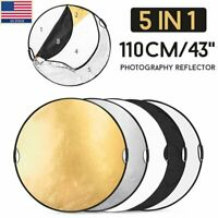 US 110CM 5in1 photo reflector W/Handle Grip Studio Photography Light Collapsible