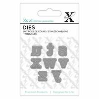 Docrafts X-Cut Mini Alphabet Die - Serif Alphabet Letters s-z Die Cutting