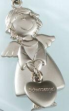 ☼ Gilde Schlüsselanhänger Schutzengel mit Herz Metall silber matt ca.11 cm 50992