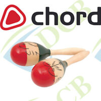 CHORD MUSICAL INSTRUMENT WOOD PAINTED 23cm  MARACAS PERCUSSION SHAKERS