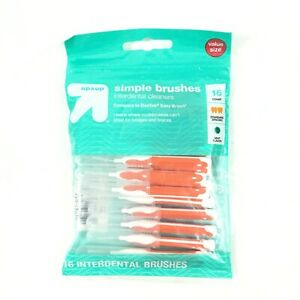 Up & Up Simple Brushes Interdental Cleansers Mint Flavor 16 Count