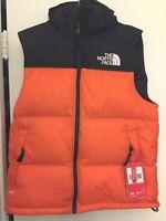 The North Face Mens 1996 Retro Nuptse Hooded 700 Down Vest Persian Orange Small