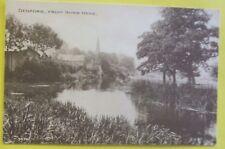 Postcard c.1920 DENFORD FROM RIVER NENE DENFORD BUCKINGHAMSHIRE