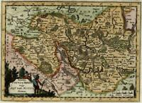 Germany Prussia Mittlemarck Alte Marcke c.1710 decorative old map