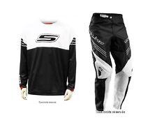 Uniforme motocross S-Line Blanco / Negro pantalón Talla 44 FR / Camiseta XXL