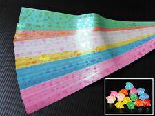120 strips Origami Folding Kit Paper Lucky Wish Star Shiny Heart mark, 1x25 cm.