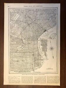 1917 Philadelphia, PA Map, Encyclopedic Atlas and Gazetteer