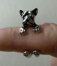 Adjustable Cute Dog Ring Pet, Boxer, pug, Animal Gift Puppy Wrap Finger