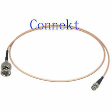BNC Q9 75ohm male to mini BNC Q6 HD-SDI video signal RG179 pigtail cable 76cm