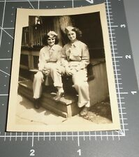 1940's WWII Affectionate ARMY Women Lesbian GIRLFRIENDS Vintage Gay Int PHOTO #2