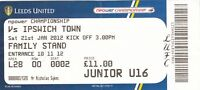Ticket - Leeds United v Ipswich Town 21.01.12