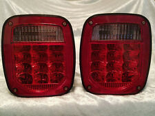 76-06 WRANGLER CJ YJ TJ LED TAIL LIGHTS JEEP TRAILER RUBICON OFF ROAD 4x4 L.E.D.