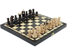 Free shipping --WOODEN MEDIUM HAND CRAFTED CHESS -WOOD -SET
