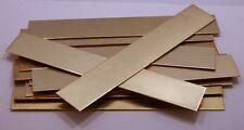 """Raw Brass Sheet, Bracelet Cuff Blanks 6"""" x 1"""" 18ga Package Of 12"""