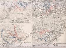 1850 Pianta di operazioni militari,....  xilografia