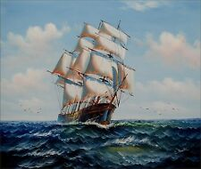 Sailing Ship 20, Quality Hand Painted Oil Painting 20x24in