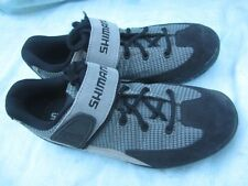 Shimano CYCLING Shoes SH-M 038 Leather Light Grey, Size 5 US (38 EU), Mint Cond.