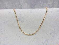 9CT SOLID ROSE/PINK GOLD OVAL BELCHER NECKLACE/CHAIN 4.5gr