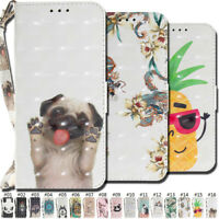 For Huawei P20 Lite/Nova 3E Wallet Card 3D Strap Magnetic PU Leather Case Cover