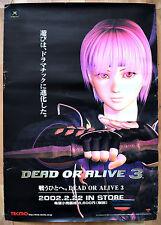 Dead OR ALIVE 3 RARA XBOX 51.5 CM x 73 giapponese PROMO POSTER #2