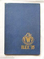 1935 WOODLAND HIGH SCHOOL YEARBOOK, WOODLAND, CALIFORNIA   ILEX