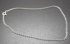 Anklet Solid Sterling Silver .925 Fine Soldered Link Adjustable Length New