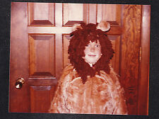 Vintage Photograph Little Boy Wearing Cowardly Lion Costume - Halloween