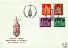 SWITZERLAND, 1963, FDC, SCOTT # 397, 398, 399A, 399B, MICHEL # 764 - 767
