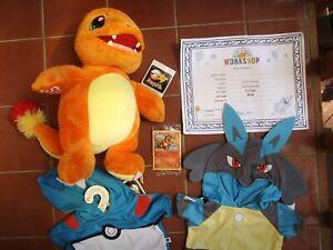 "Build A Bear 15"" Pokemon Charmander Plush Toy & Sealed Card BRAND NEW"